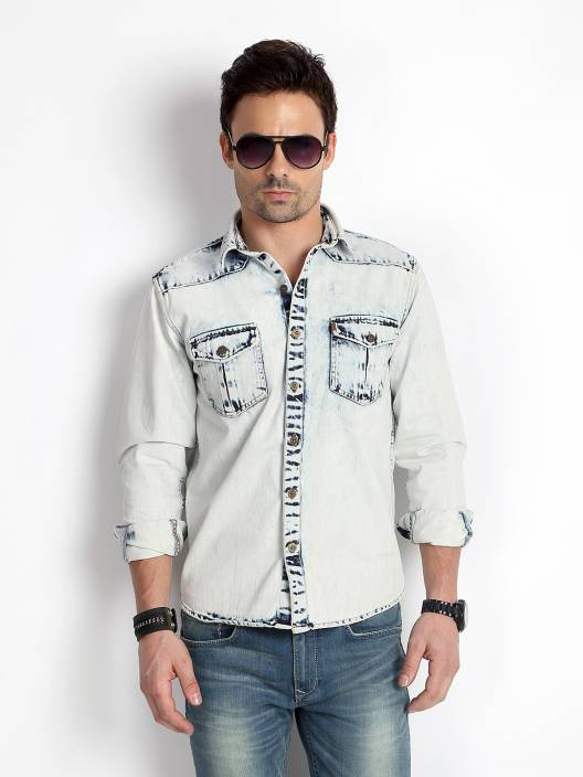 dace800df3 Rodid Men s Solid Casual White Shirt - Buy Silky-White Rodid Men s Solid  Casual White Shirt Online at Best Prices in India