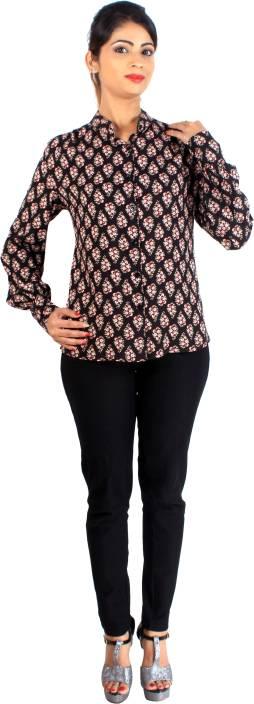 L'il pear Women's Printed Formal Shirt