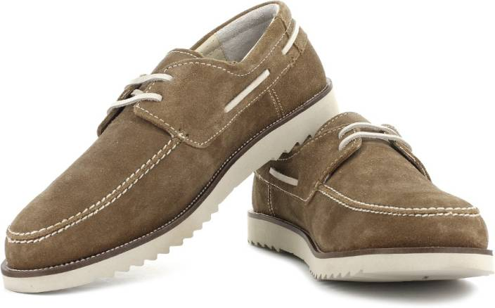 Woodland Boat Shoes For Men