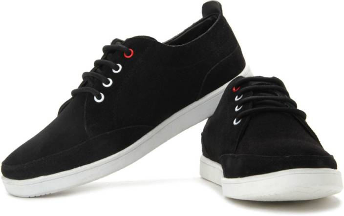 Flippd Suede Leather Low Ankle Sneakers For Men