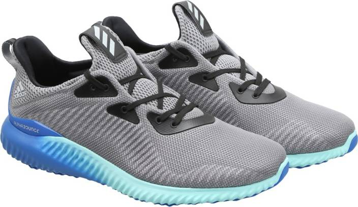 8386b1254c60f ADIDAS ALPHABOUNCE 1 M Running Shoes For Men - Buy GREY CLONIX ...