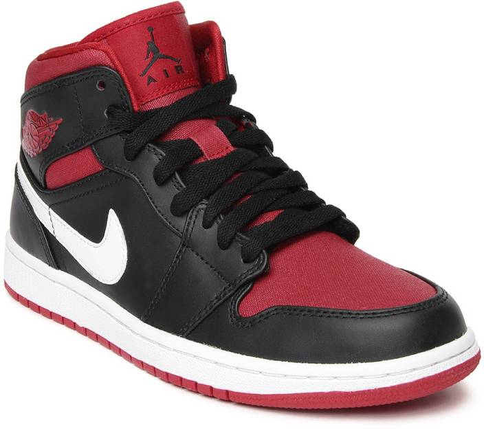 6a65143a392555 Nike Air Jordan 1 Mid Basketball Shoes For Men - Buy BLACK GYM RED ...