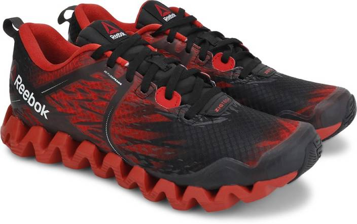 timeless design 3821d 843d1 REEBOK ZIG SQUARED CRUZ Men Running Shoes For Men (Black, Red)