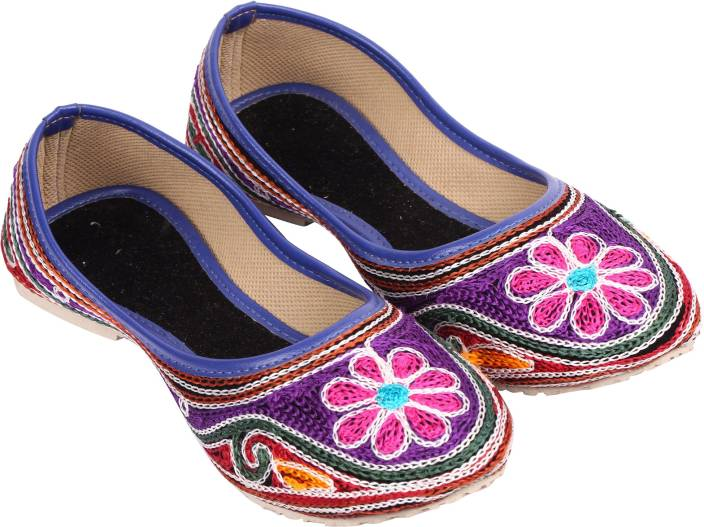 A S Collections Embroidered Jutis For Women