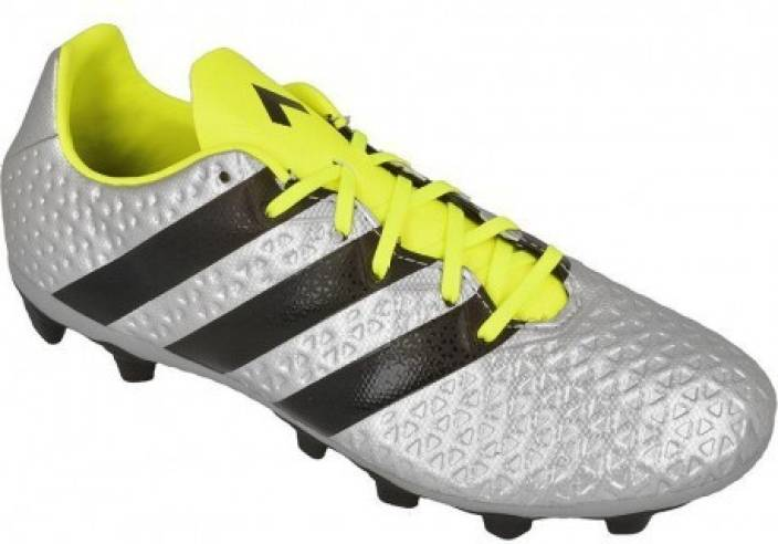 7b5d2c3308c2 ADIDAS ACE 16.4 FXG Football Shoes For Men - Buy silver met./core ...