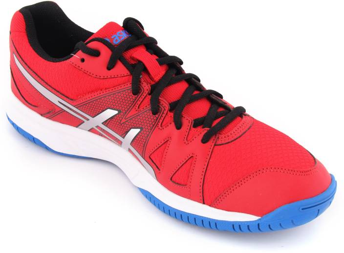 fc7ad4b24 Asics Gel-Upcourt Men Badminton Shoes For Men - Buy Fiery Red Silver ...
