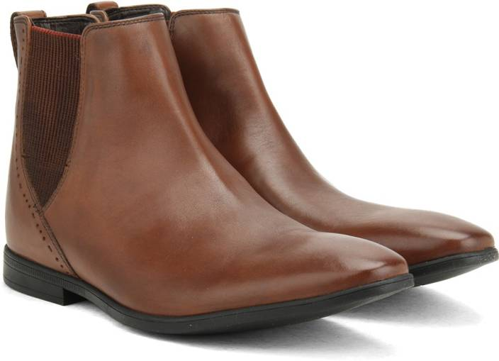Clarks Bampton Top Tan Leather BOOTS For Men