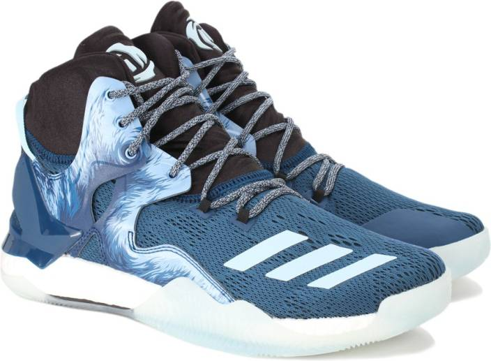 ADIDAS D ROSE 7 Basketball Shoes For Men - Buy TECSTE CBLACK ICEBLU ... 5189872fe