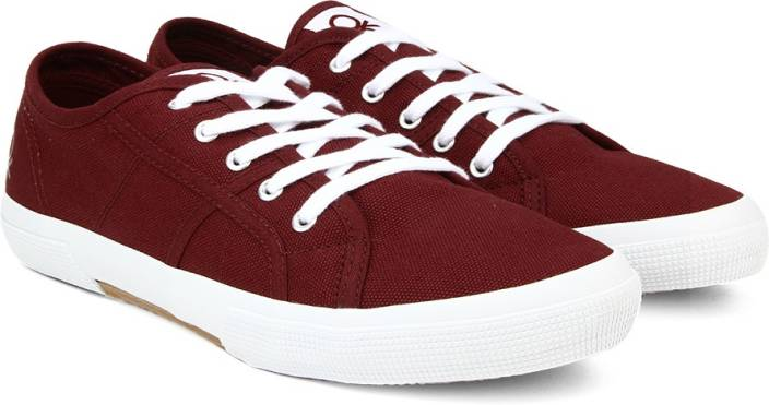 United Colors Of Benetton Men Sneakers For Men Buy Maroon Color