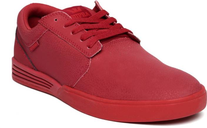 32d53a1efa Supra Sneakers For Men - Buy Red Color Supra Sneakers For Men Online ...
