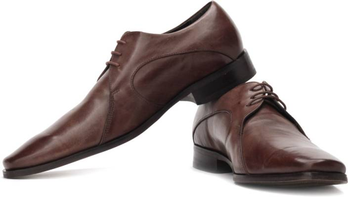 Ruosh Two Tone Finish Genuine Leather Semi-Formal Shoes For Men