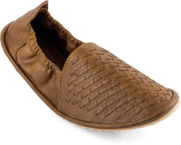 APF Tan Casual Mojaris Mojaris For Men