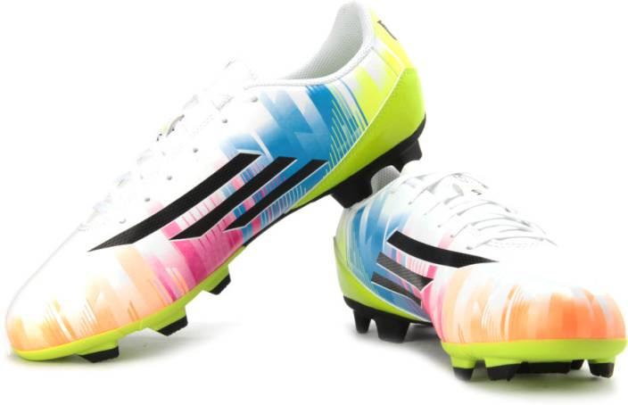 promo code 7947c cf179 ADIDAS F5 Trx Fg (Messi) Football Studs For Men (White, Black, Green,  Multicolor)
