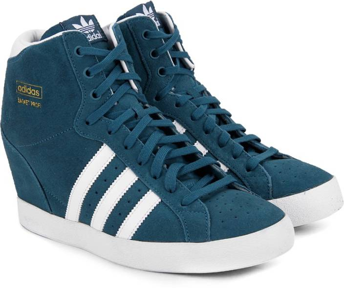 timeless design 9f278 998f4 ADIDAS ORIGINALS Basket Profi Up W Mid Ankle Sneakers For Women (Blue)