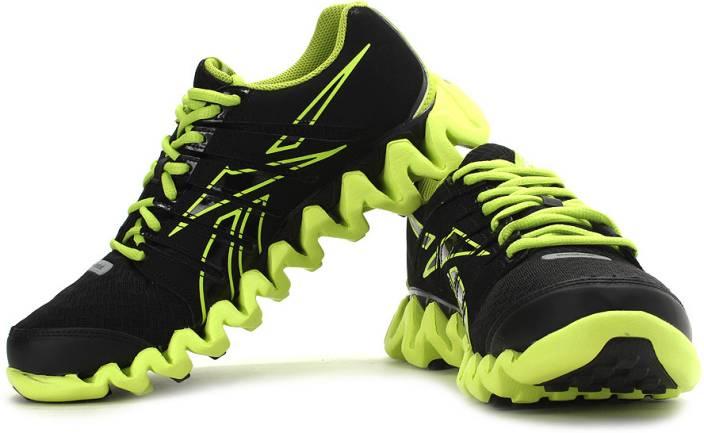 best loved e0579 76a11 REEBOK Zigtech Shark 3.0 Running Shoes For Men (Black, Green)