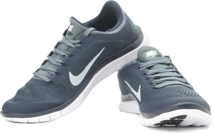 new arrivals e7cda 44b6d Nike Free 3.0 V5 Running Shoes For Men (Grey, Navy)