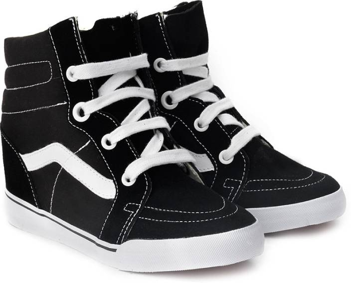 11f1f116b7 Vans Sk8-Hi Wedge Mid Ankle Sneakers For Women - Buy Black