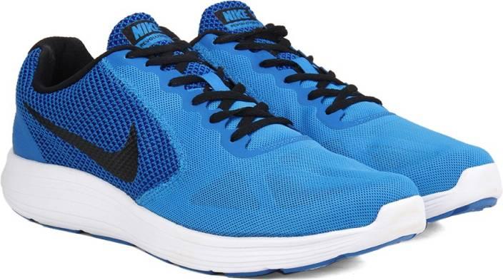 5689b7975af Nike REVOLUTION 3 Running Shoes For Men - Buy BLUE   BLACK - CNCRD ...