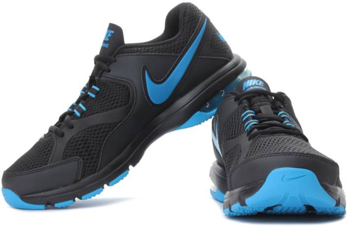 more photos 85309 825a5 Nike Air Max Compete Tr Running Shoes For Men (Black, Blue)