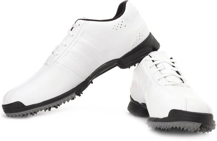 brand new 40377 c0ff2 Adidas Golf Greenstar Z WD Golf Shoes For Men (White, Black)