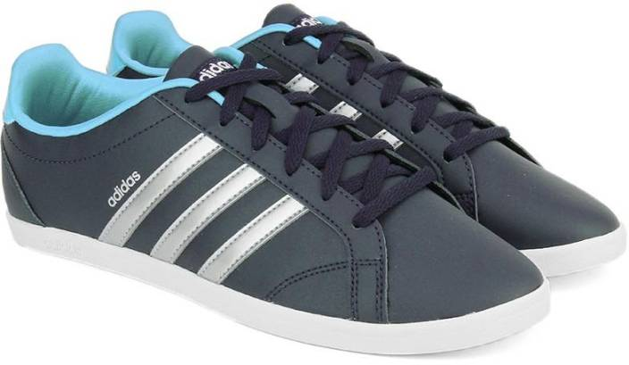 official photos 64cb7 3018d ADIDAS NEO CONEO QT Sneakers For Women (Navy, Silver)