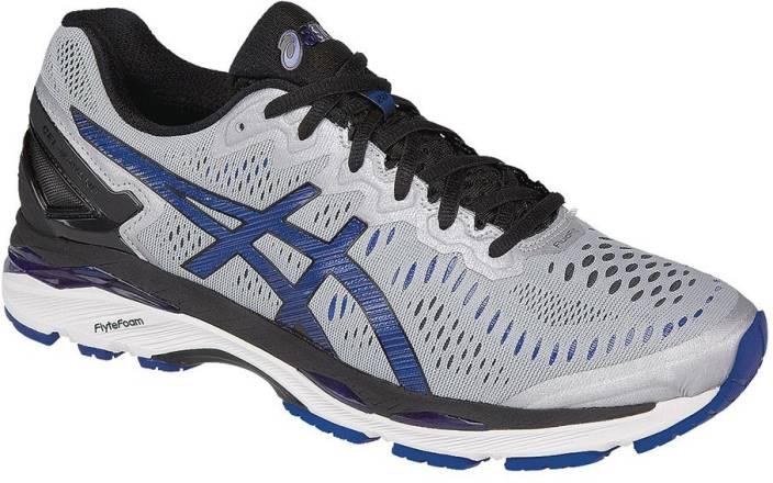 036bae818a46 Asics Gel-Kayano 23 (2E) Running Shoes For Men - Buy Silver ...