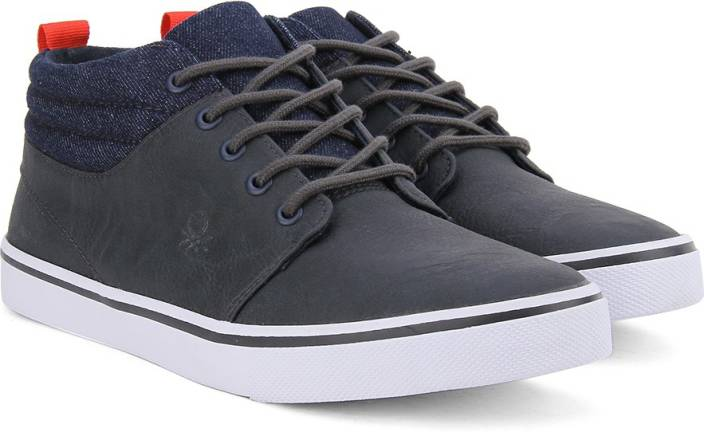 United Colors of Benetton Men Mid Ankle Sneakers For Men