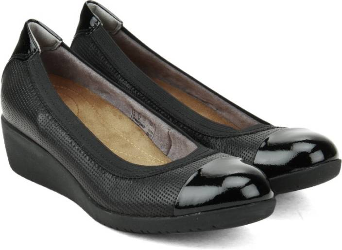 Clarks Petula Sadie Black Leather Formal For Women