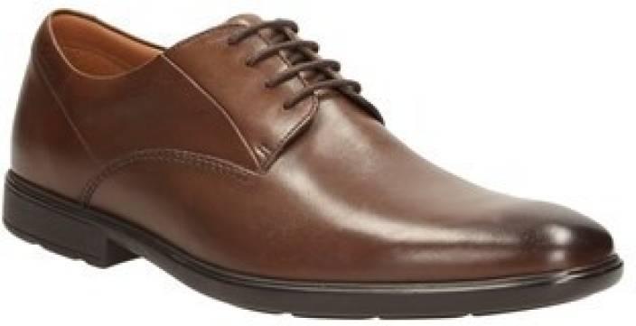 75a56c1b Clarks Gosworth Walk Walnut Leather Lace up For Men - Buy Walnut ...