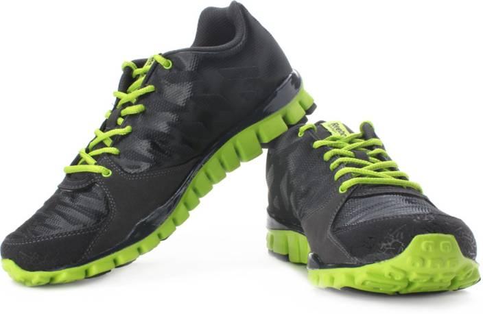 sale retailer 57045 e99a4 REEBOK Realflex Transition 2 LP Running Shoes For Men (Black, Green)