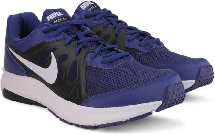 buy online 83f71 3207a Nike DART 11 MSL Running Shoes For Men (Black, Blue, White)