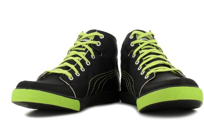 ZLMRE Puma Drongos DP Men Mid Ankle Sneakers - Buy 03, Black, Lime Punch
