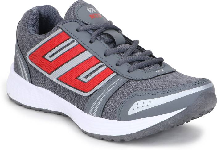 Rich N Topp Swift 6 DGrey Red Running Shoes For Men