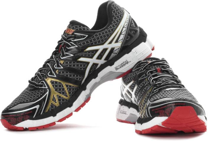 wholesale dealer e3f45 b5cc1 Asics Kayano 20 Men Running Shoes For Men (Black, Silver, Gold, White)