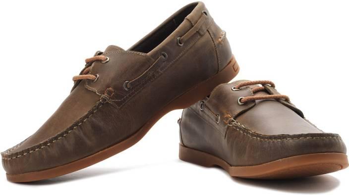 2c7d7586f2603 Alberto Torresi Boat Shoes For Men - Buy Dark Brown Color Alberto ...
