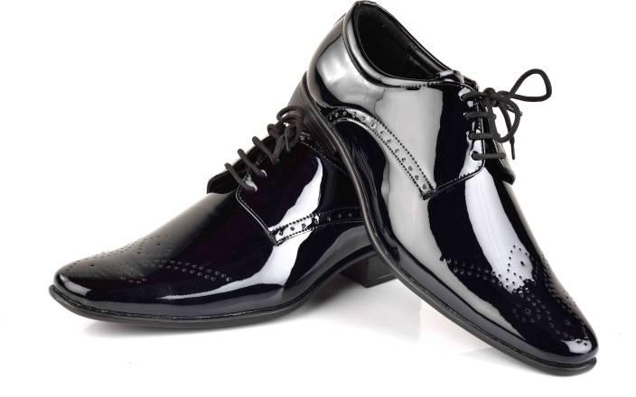 e381cbf3a2fb Ferraiolo Italian Plan B Lace Up Shoes For Men - Buy Shiny Black ...
