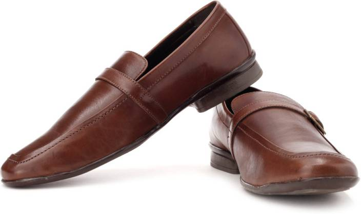 U.S. Polo Assn Genuine Leather Slip On Shoes For Men