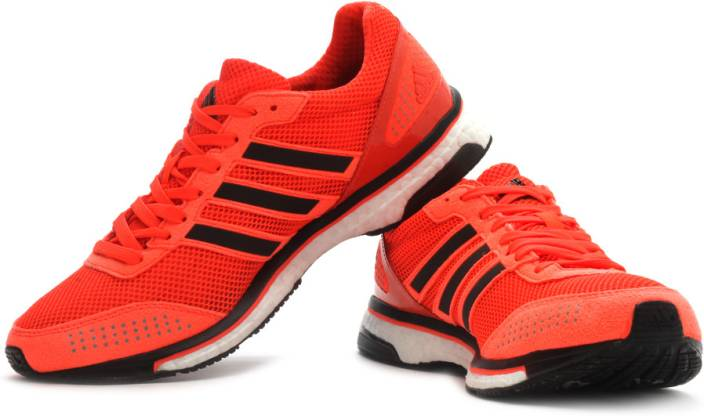 new concept bade6 df0db ADIDAS Adizero Adios Boost 2 M Running Shoes For Men (Black, Orange)