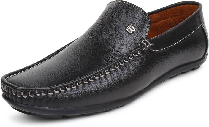 edca6df7e2279 BUWCH Casual,Party wear,Mocassin Loafer For Men And Boys Black Color Loafers  For Men (Black)