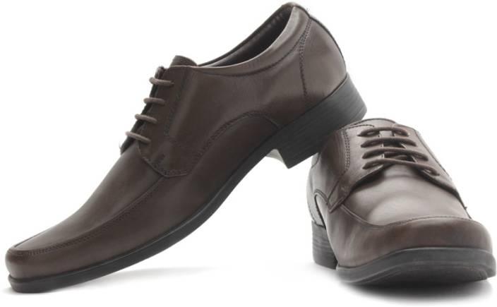 Bata Wrangler Men Genuine Leather Lace Up Shoes For Men