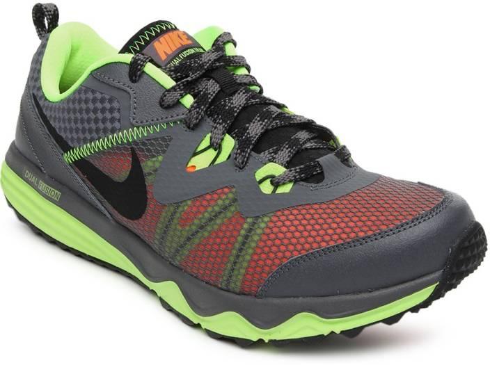 c60e023af254 Nike Dual Fusion Trail Running Shoes For Men - Buy DARK GREY BLACK ...