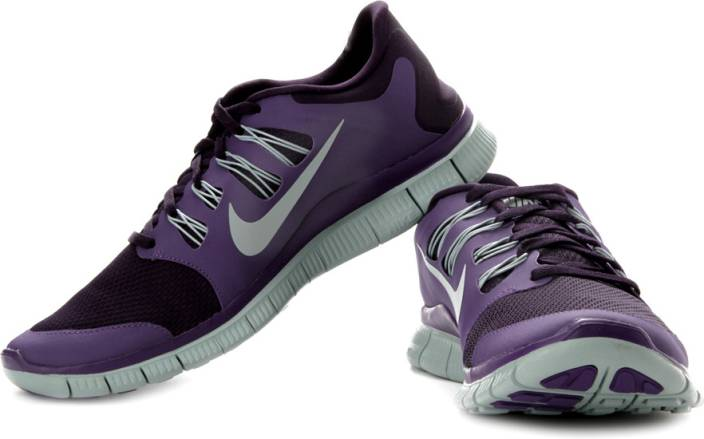 size 40 b67ce 1fb58 Nike Free 5.0 Running Shoes For Men (Purple, Grey)
