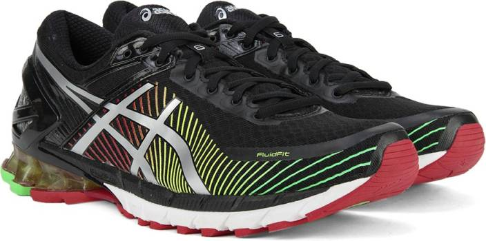 330e50d4b1f0 Asics GEL-KINSEI 6 Running Shoes For Men - Buy BLACK SILVER RED ...