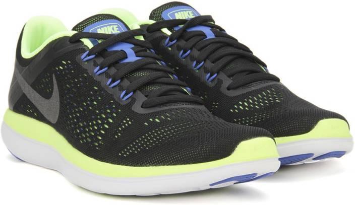 0b0a01d09cdc Nike FLEX 2016 RN Running Shoes For Men - Buy BLACK MTLC DARK GREY ...