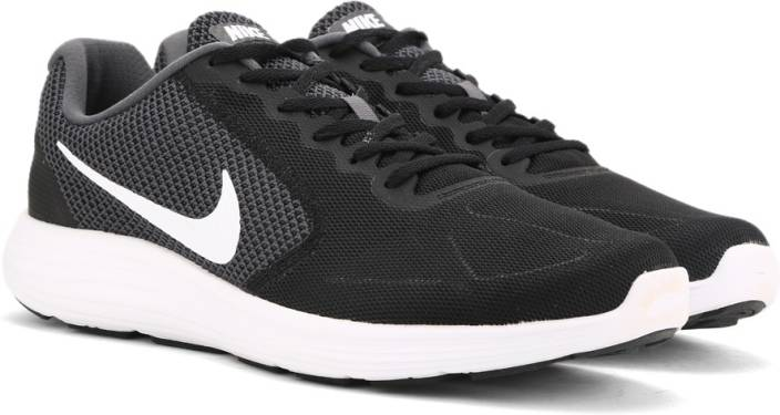 0c68d200f1a95e Nike REVOLUTION Running Shoes For Men - Buy DARK GREY WHITE-BLACK ...