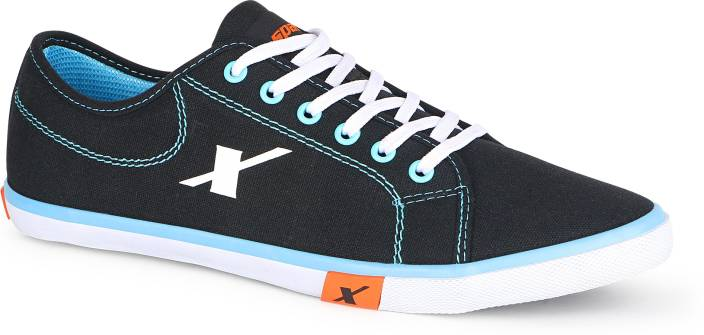 Sparx 283 Canvas Shoes For Men - Buy BlackSkyBlue Color ... Canvas Shoes For Men Price