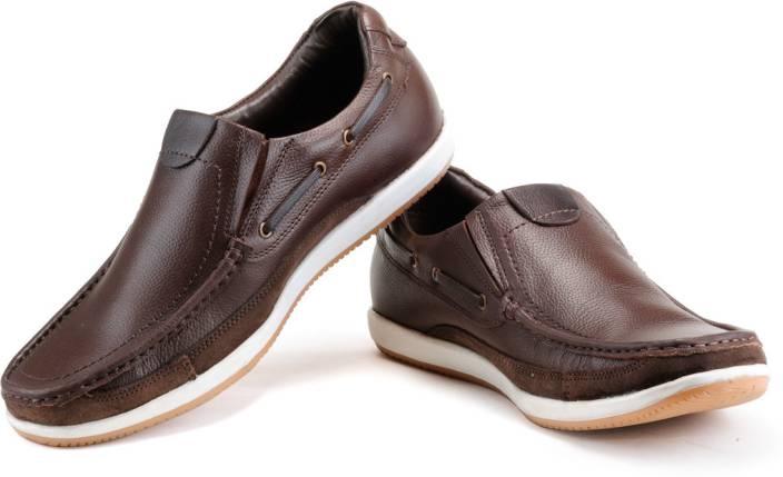 Numero Uno Semi-formal Brown Leather Casual Shoes For Men - Buy ... ae3465384e6a