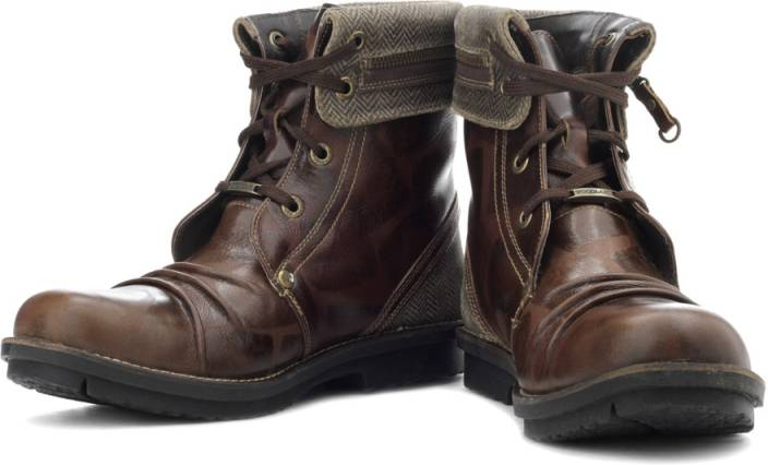 Woodland Boots For Men - Buy Sienna Brown Color Woodland ...