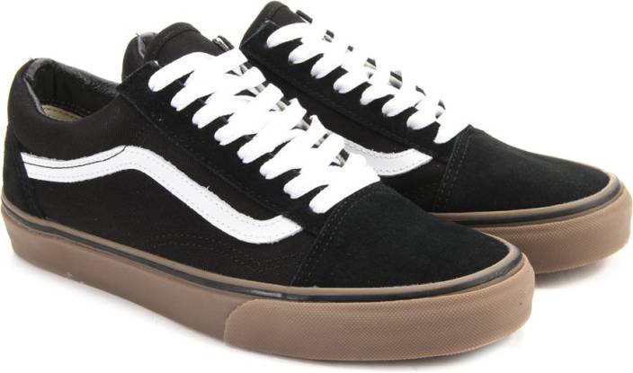 vans authentic black gum sole for sale