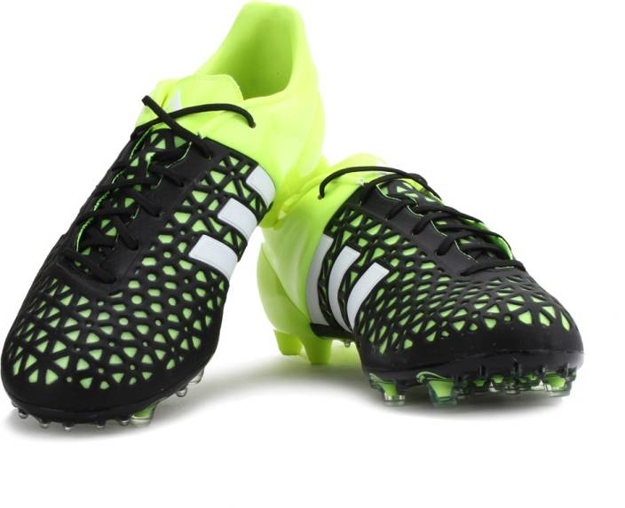 promo code 1f780 342b4 ADIDAS ACE 15.1 FG AG Football Studs For Men (Black, Green)